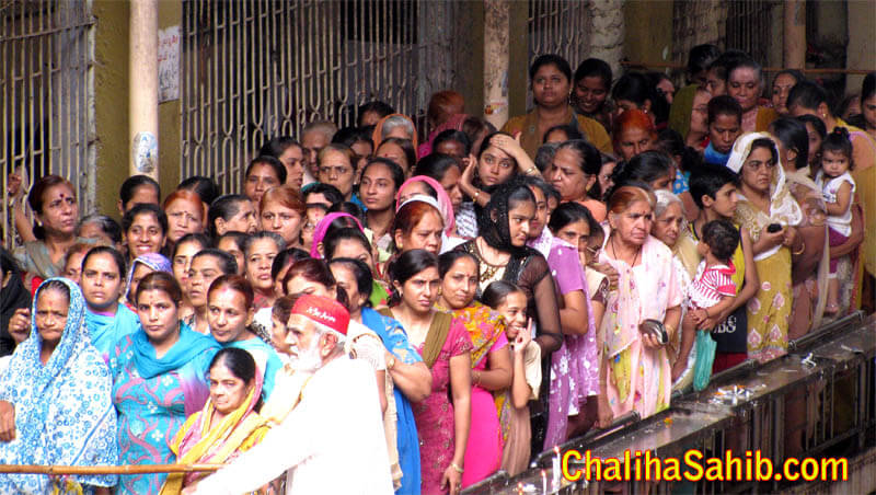 Ladies in line for Dona Prasad
