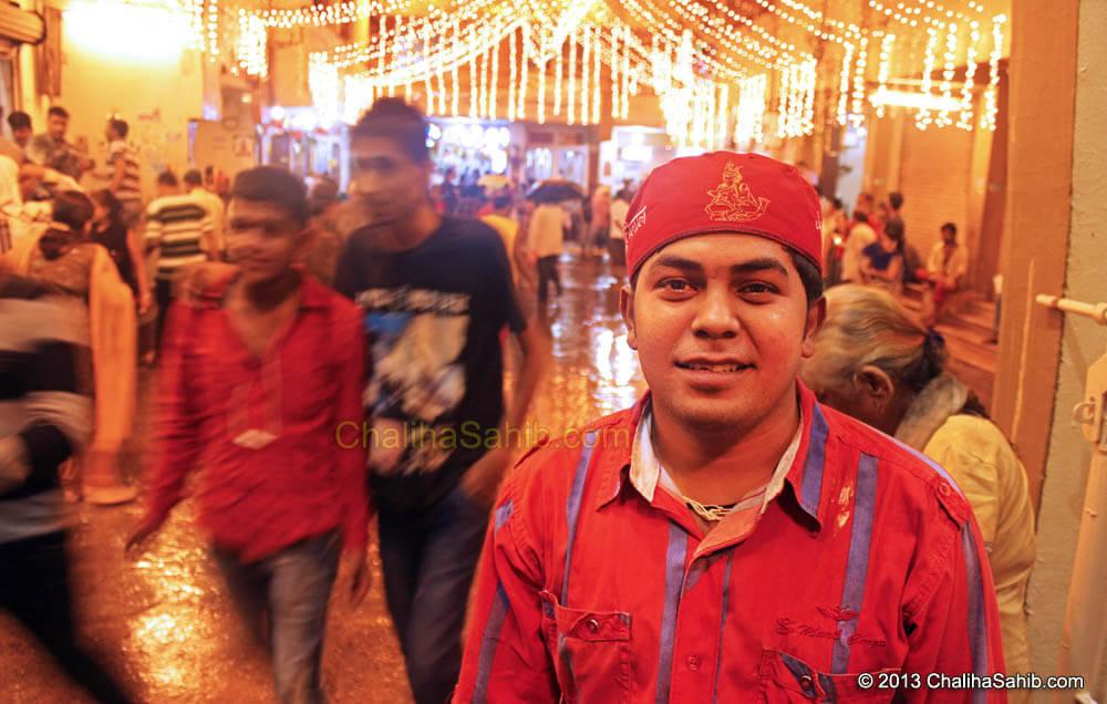 Chaliha Sahib Festival 2013 Shewadhari with Cap