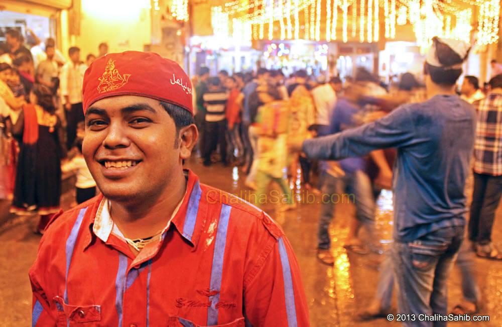Chaliha Sahib Festival 2013 Devotee with Cap