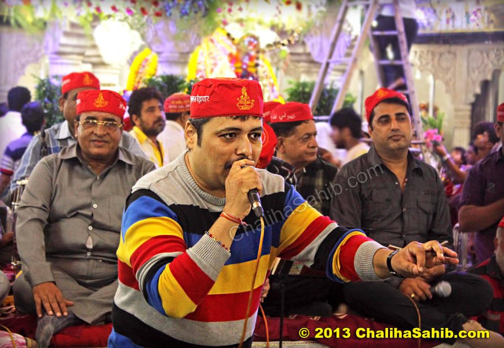 Deepak Makhija at Puj Chaliha Sahib Mandir