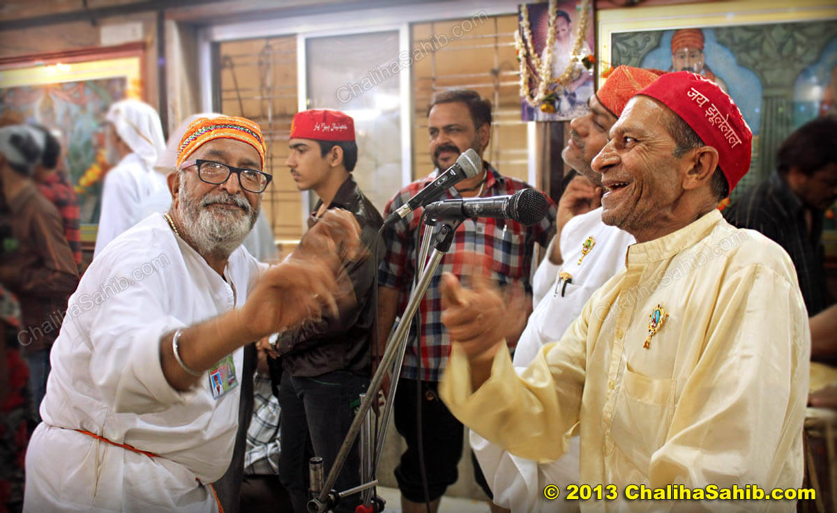 Shaman Bhagat and Masalewaro at Puj Chaliha Sahib