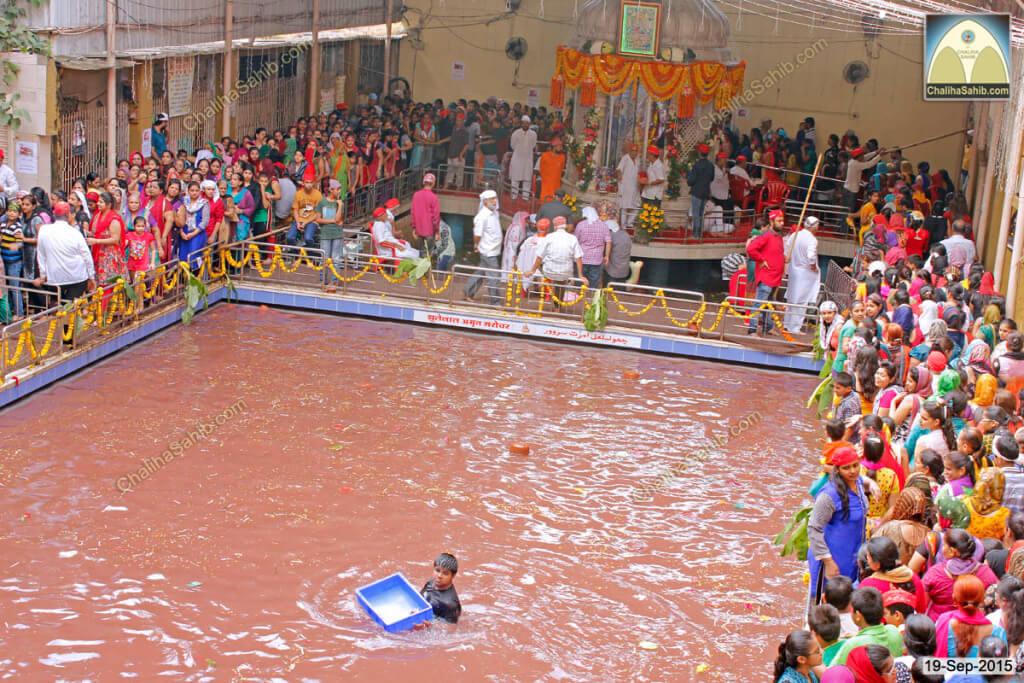 Chaliha-Sahib-Mandir-Jhulelal-Amrut-Saroval-Arieal-view