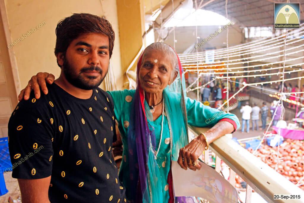 Chaliha Sahib Palav Day Shevadhari Nitin with Kamla Maasi