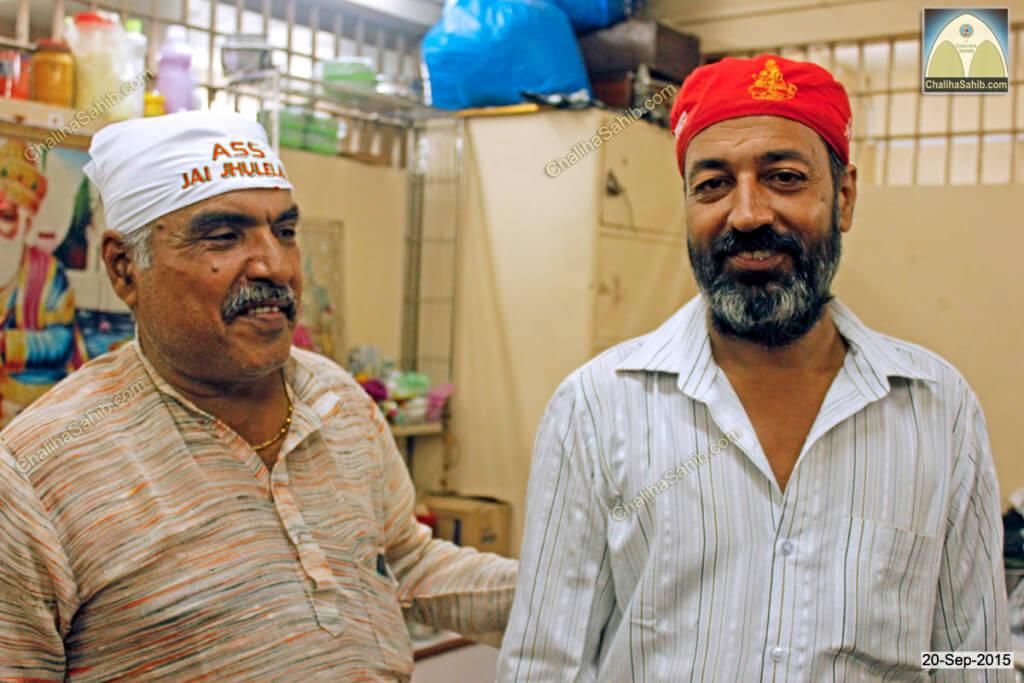 Chaliha Sahib Palav Day Ramesh Parwani with Tirlok wearing Sindhi Topi of Jhulelal Sain