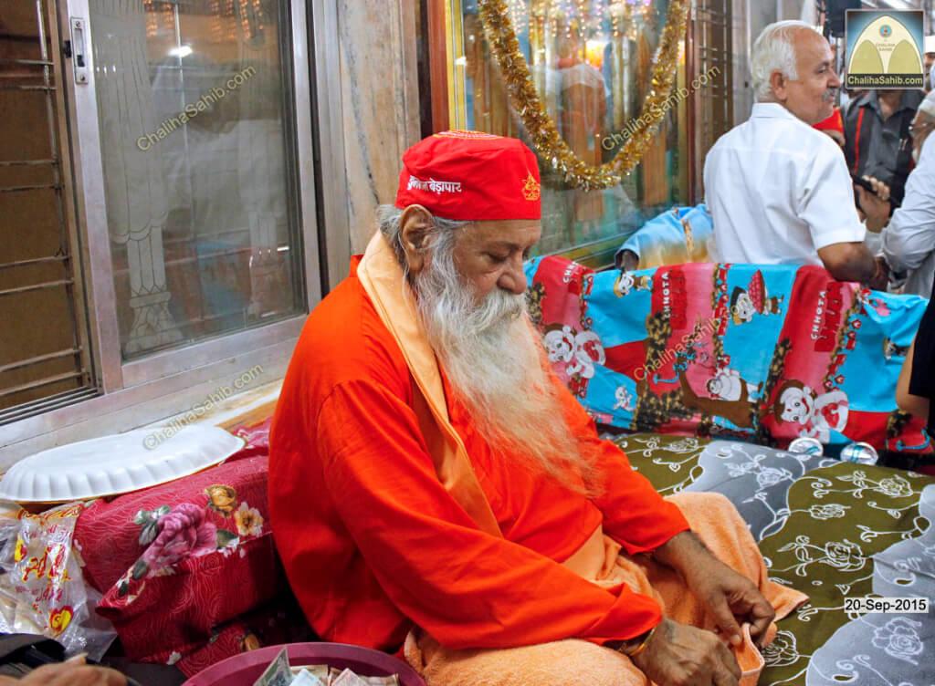 Chaliha Sahib Palav Day Sai Ruparam Sahib wearing Sindhi Topi of Jhulelal Sain
