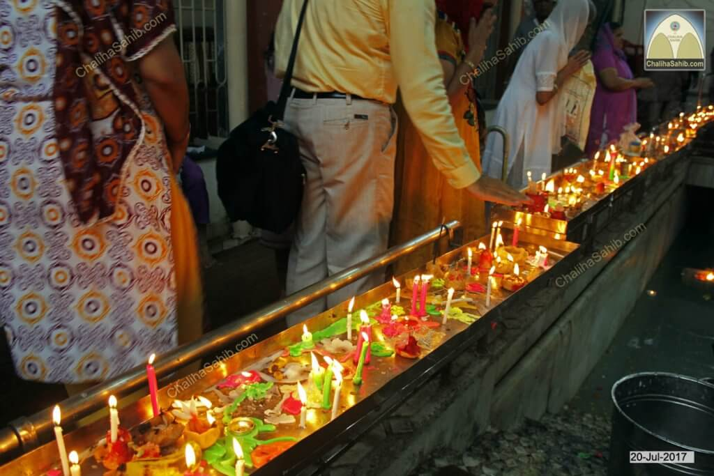 Candles at Chaliha Sahib Mandir
